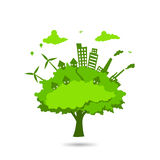 Ville dans l'arbre Photo stock