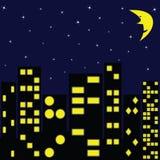 Ville dans la nuit Photo libre de droits