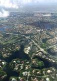 Ville dans la vue aérienne Photographie stock libre de droits