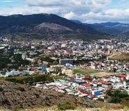 Ville dans les montagnes photo libre de droits