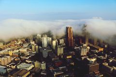 Ville dans les nuages Photo libre de droits