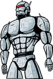 Ville de attaque de robot géant. illustration stock