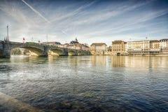 Ville de Bâle, Suisse Photo libre de droits