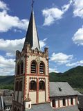 Ville de Bacharach, Allemagne Panorama d'Iphone Photo stock