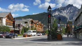 Ville de Banff, Alberta, Canada Images libres de droits