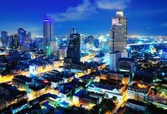 Ville de Bangkok au crépuscule images libres de droits