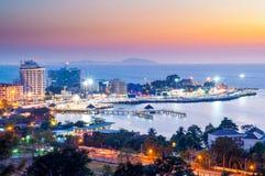 Ville de Bangsaen Photo libre de droits