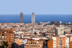 Ville de Barcelone Photo stock