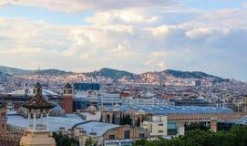 Ville de Barcelone en juin de 2018 photos libres de droits
