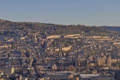 Ville de Bath d'Alexandra Park sur la falaise Beechen image libre de droits