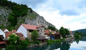 Ville de Bavière sur la rivière Image libre de droits