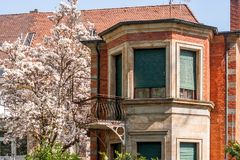 Ville de Bayreuth de vieux balcon en acier vieille Images stock