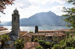 Ville de Bellagio au lac italien Como images stock