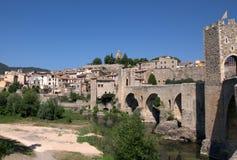 Ville de Besalu, Espagne Photo libre de droits