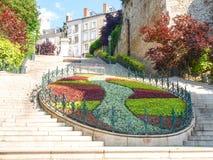 Ville de Blois, Blumendekoration Lizenzfreies Stockfoto