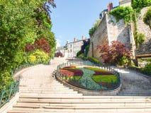 Ville de Blois. Blois, France: Along the route of the castles on the Loire River - Ville de Blois Stock Image