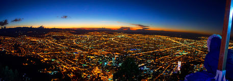 Ville de Bogota du haut de Monserrate Photo stock