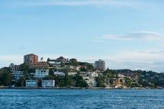 Ville de bord de la mer à Sydney Images libres de droits