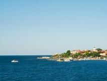 Ville de bord de la mer Photos libres de droits