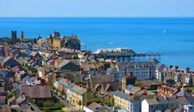 Ville de bord de la mer d'Aberystwyth images stock