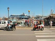 Ville de bord de mer de Rhodes en Grèce Photo stock