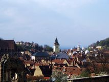 Ville de Brasov Photos stock
