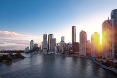 Ville de Brisbane Photographie stock