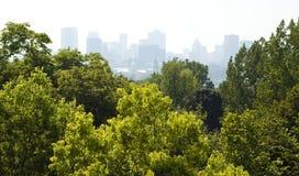 Ville de brouillard enfumé photos libres de droits