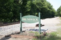 Ville de Brunswick Tennessee Photo libre de droits