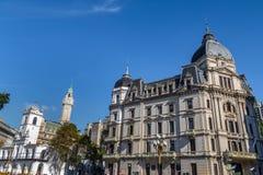 Ville de Buenos Aires hôtel - Palacio Municipal de la Ciudad De Buenos Aires et bâtiments dedans en centre ville - Buenos Aires,  photo stock