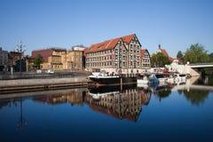 Ville de Bydgoszcz en Pologne Photographie stock libre de droits