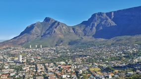 Ville de Cape Town et montagne de table Photo libre de droits