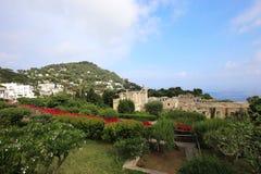 Ville de Capri, île de Capri, Italie Images stock