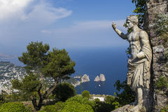 Ville de Capri, île de Capri, Italie Photos stock