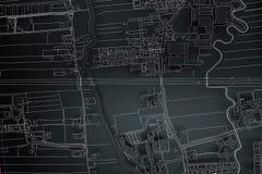 Ville de carte de cartographie illustration stock