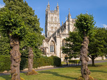 Ville de cathédrale de Gloucester, Angleterre image libre de droits