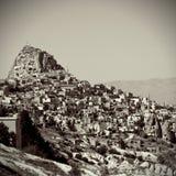 Ville de caverne dans Cappadocia, Turquie Images libres de droits