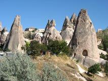 Ville de caverne de Goreme en Turquie Images libres de droits