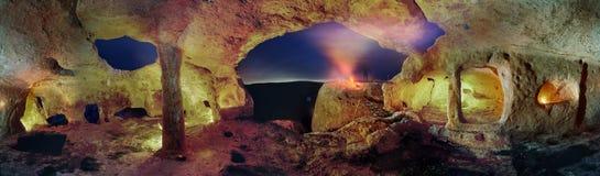 Ville de caverne en Crimée, Eski-Kerman Image stock