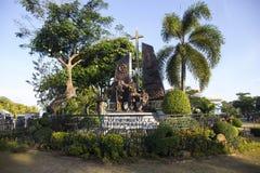 Ville de Cebu, les Philippines - 22 mars 2018 : monument chrétien de missionnaires en parc historique photographie stock libre de droits