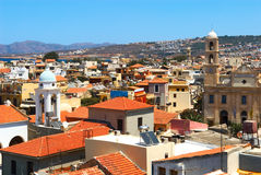 Ville de Chania. Crète Photo libre de droits