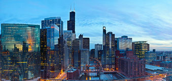 Ville de Chicago Image stock