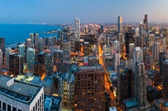 Ville de Chicago. images libres de droits