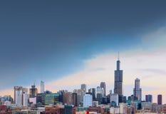 Ville de Chicago avec l'espace libre, l'Illinois Photo libre de droits