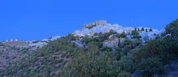 Ville de Chora sur l'île de Patmos Photos stock