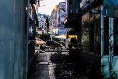 Ville de Cinarcik à la soirée Image stock