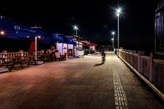 Ville de Cinarcik la nuit été - Turquie Photos stock