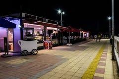 Ville de Cinarcik la nuit été - Turquie Image stock