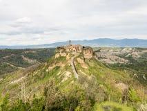 Ville de Civita di Bagnoregio The qui meurt Photo stock