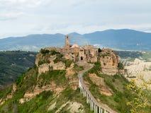 Ville de Civita di Bagnoregio The qui meurt Image stock